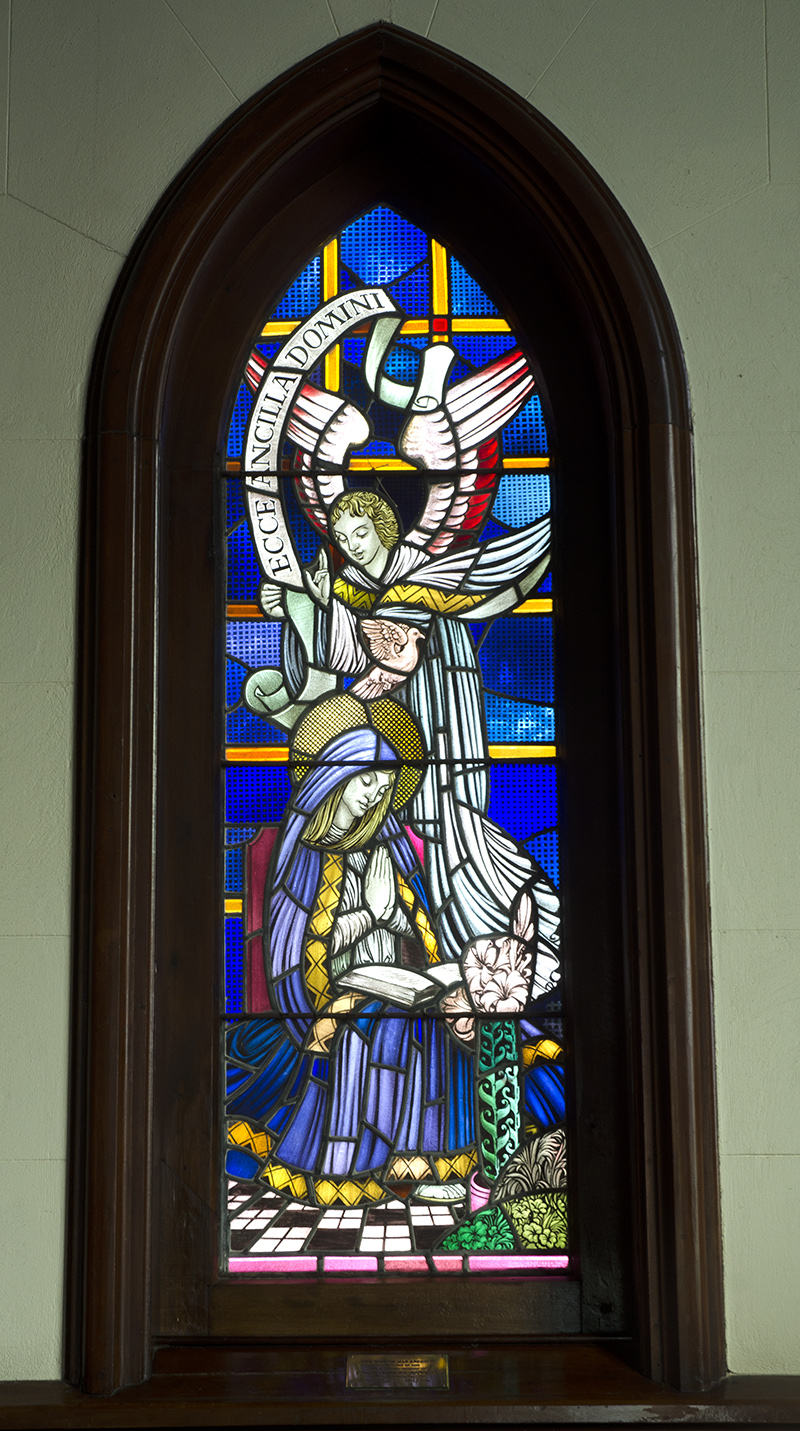 St John's Roslyn Anglican Church - Highgate - Dunedin - FVE Ellis #046 - Anunciation window
