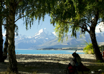 Mt Cook from the edge of Lake Pukaki