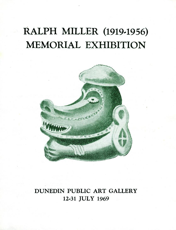 Invitation for Ralph Miler Memorial Exhibition, Dunedin Public Art Gallery, 1969